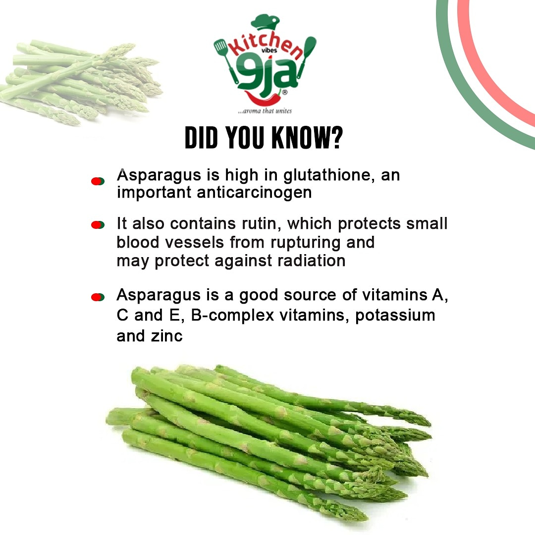 Do you know that Asparagus has many functions to health. #food #kvnaijashowpic.twitter.com/e97Pys6qIx
