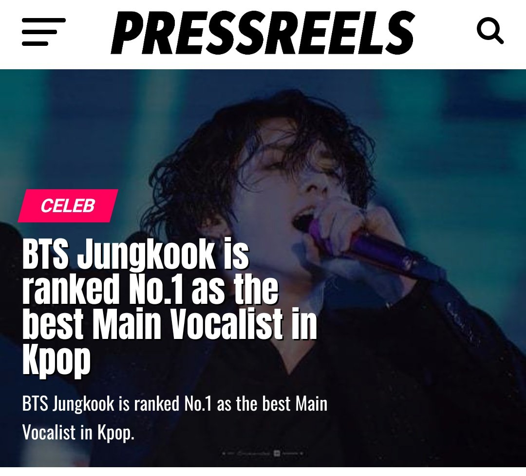 [Article]Jungkook is ranked No. 1 as the Best Main Vocalist in Kpop  The best main vocalist is always a hot topic of debate among boy group fans. Accd to Korean netizens who voted on a DC Inside survey site, JK ranked #1 in the Best Main Vocalist Poll. See full resultspic.twitter.com/tcFt6oDIar