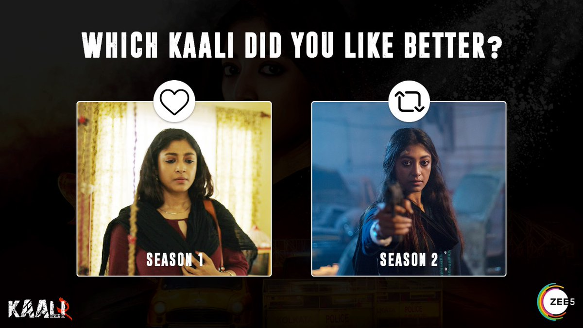 Choose your favourite look by reacting ❤ or Commenting below!  Watch #Kaali2, streaming now only on #ZEE5 #UnleashTheKaaliWithin   Watch Now: https://t.co/NTf6muqwf6  @paoli_d @IamRoySanyal @nowitsabhi @vidyaMmalavade @rahuloday @Aritra_Dreams @paramspeak @RohanGhose https://t.co/ZgsgSRSBx8