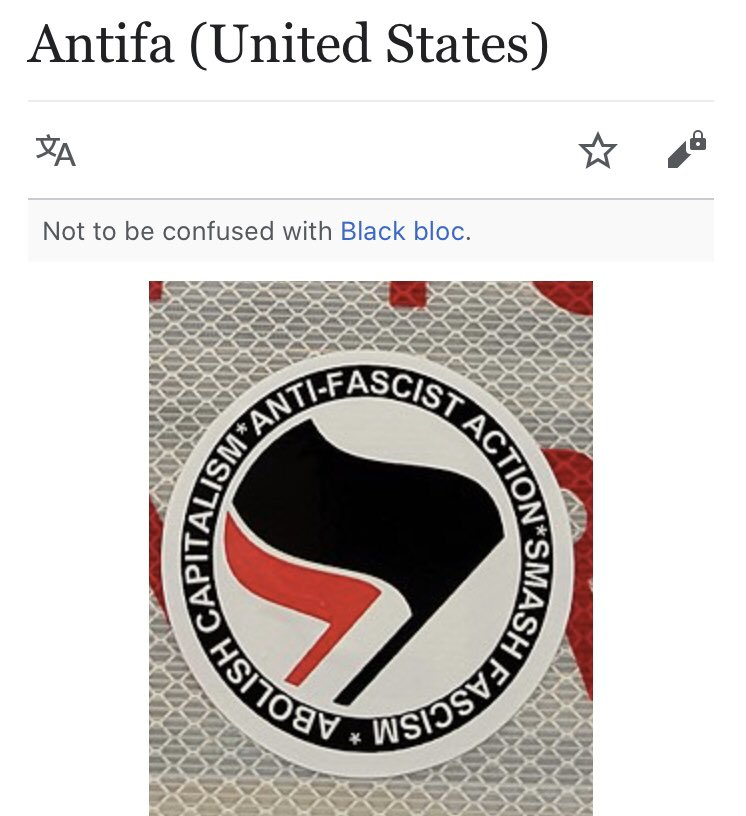 "Antifa gets it's name (and logo) from the German organisation Antifaschistiche Aktion, a 1930s Communist outfit. You know, ""literal"" communists that of course, as an ideology, never suppressed, imprisoned and murdered their own citizens in the tens of millions. twitter.com/ayocaesar/stat…"