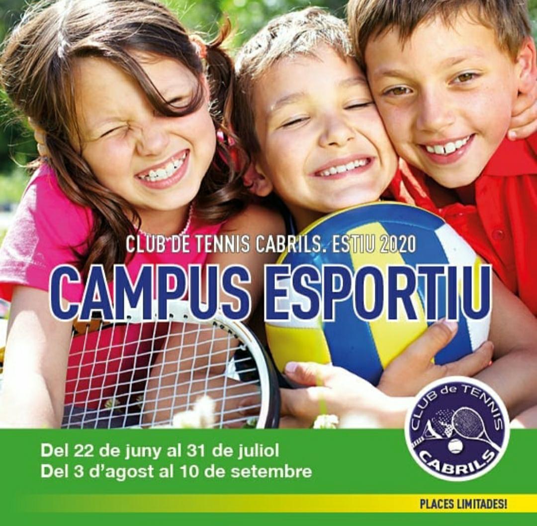 📣INSCRIPCIONS OBERTES! Ja podeu reservar la vostra plaça pel Campus esportiu al Club tennis Cabrils 🏊♀️🎾 Tota la informació i inscripcions online al web☺ https://t.co/5lFG6U8w72 #Tempsdelleure #casalsdestiu #Cabrils #TennisCabrils #casals #estiu2020 #piscina #natació #tennis https://t.co/Wlxjd6VvcM