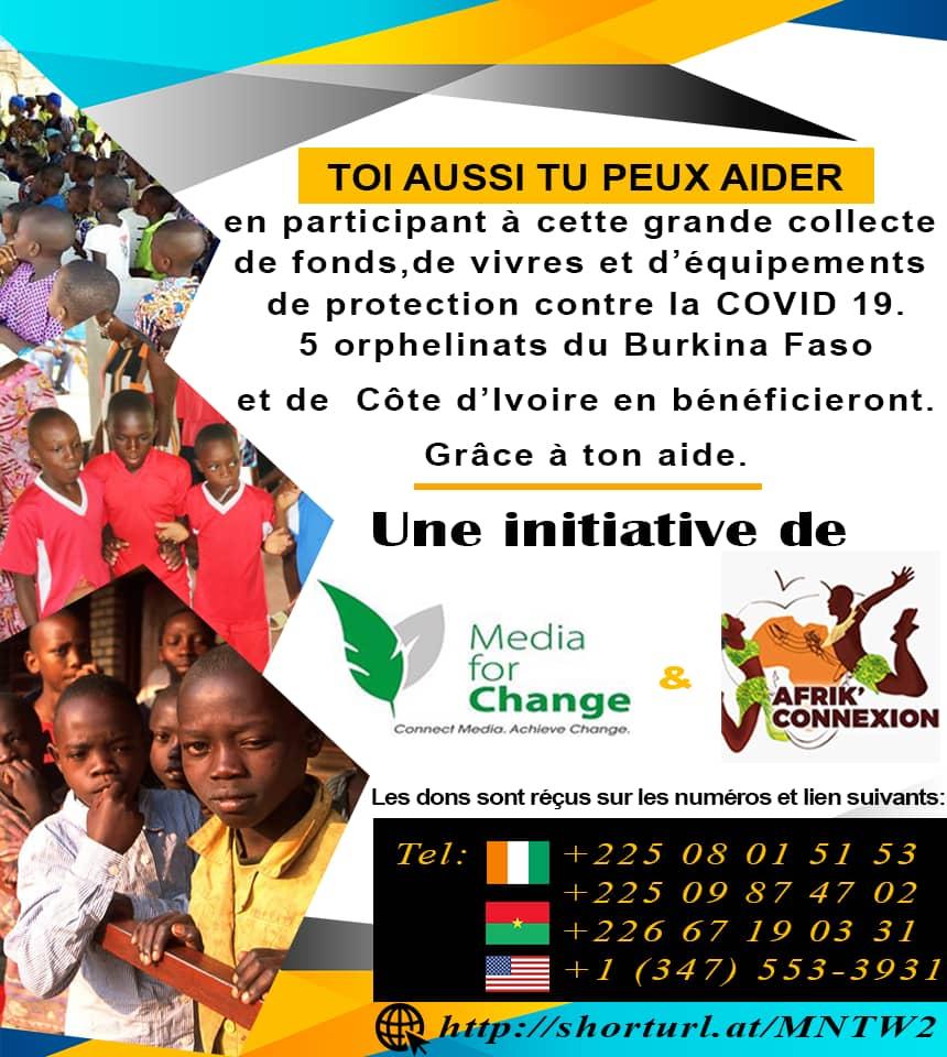 La COVID-19 touche aussi les orphelins, ne les oublions pas. Un geste de notre part leur permettra de faire face à cette pandémie.  #Media4Change #COVIDー19pic.twitter.com/ephSadGtNO
