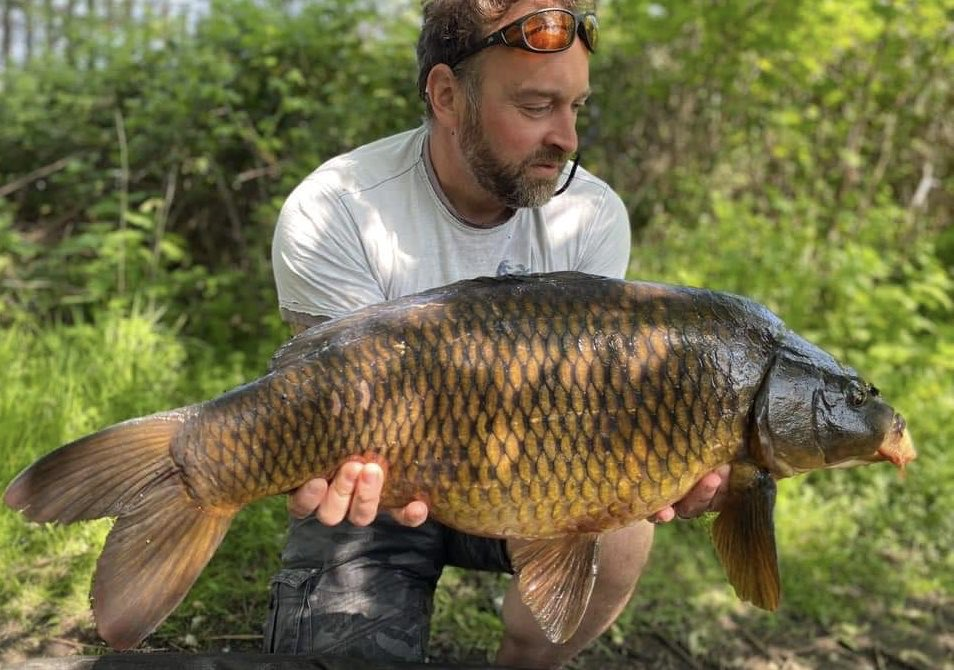 Not too many commons in @stgeorgeslake - so bailiff Tim is delighted with this one #commoncarp #carpfishing #carp pic.twitter.com/MzaVa6A5oq