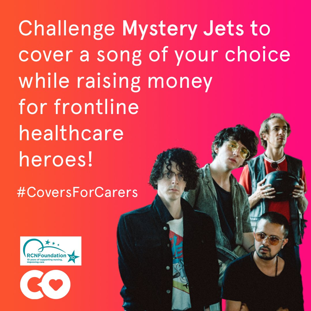 We are thrilled to have @mysteryjets joining our new campaign this week! Vote for the song youd like @mysteryjets to cover on Saturday => coversforothers.co.uk/campaign/myste… #CoversForCarers @RCNFoundation