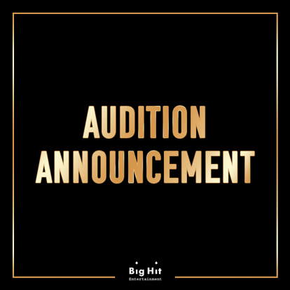 [Big HitㅣAudition Announcement]  The Big Hit seasonal audition has been combined with the Global Audition.  Now, the new '2020 Global Audition' is set to begin.  Apply for the 2020 Global Audition -  #BIGHIT #GLOBAL #Audition