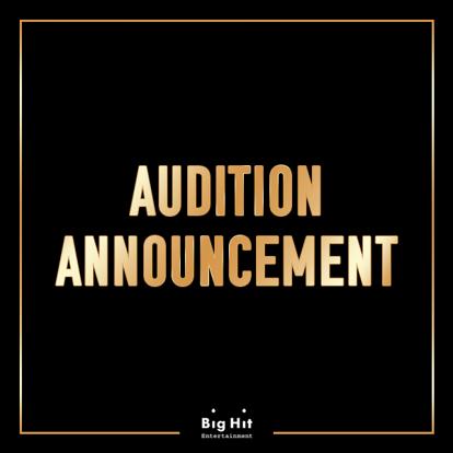 [Big HitㅣAUDITION 公告]  原有的Seasonal Audition已与Global Audition合并。  全新的'2020 Global Audition'现已开始。  报名网站 -  #BIGHIT #GLOBAL #Audition