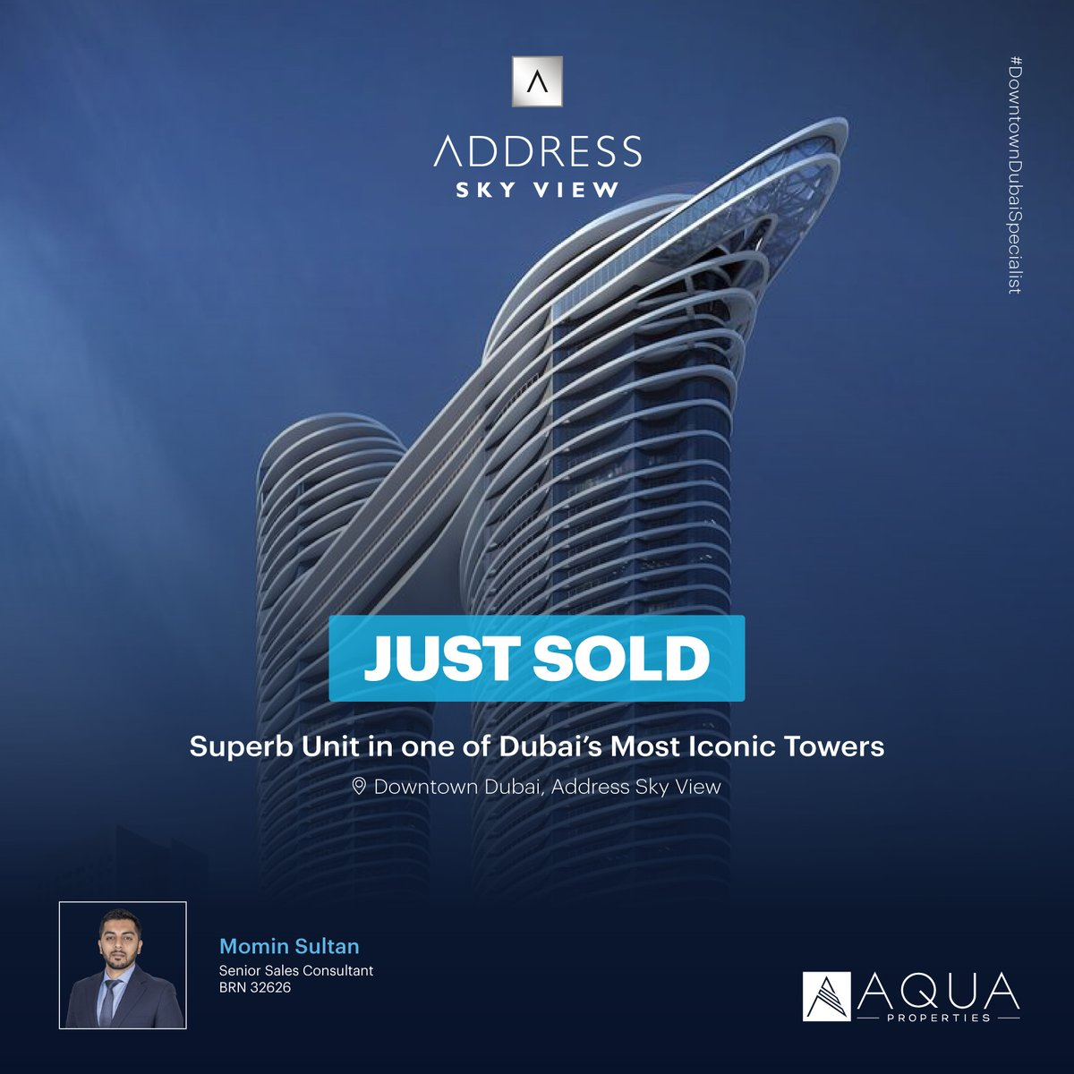 Congratulations to our #DowntownDubaiSpecialist Momin Sultan for another impressive sales deal. Now is the best time to secure a home of your dreams or a lucrative investment opportunity.#DowntownDubai #RealEstate #DubaiRealEstate #InvestmentProperty #InvestInDubai https://t.co/I2toJ5FDXo