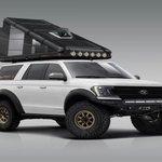 Image for the Tweet beginning: Hard-sided carbon fiber roof-top camper
