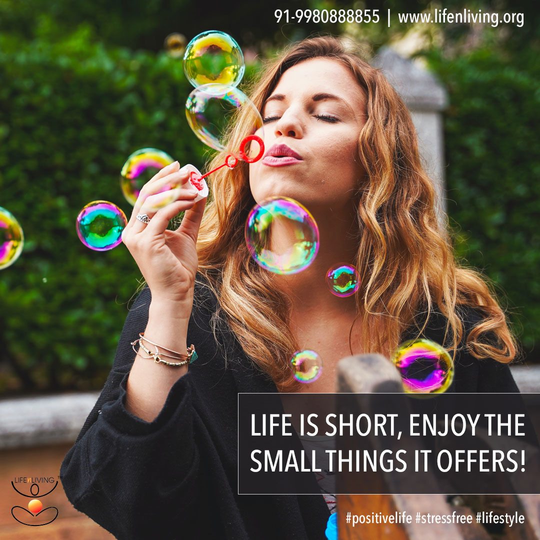 Life is short; enjoy the small things it offers! Pause to stare at the sky, to listen to a baby laugh or to smell a rose! Call 91-9980888855 or visit  for life tips!   #positivelife #stressfree #lifestyle #lifestyletips #lifenliving #lifestyleworkshops