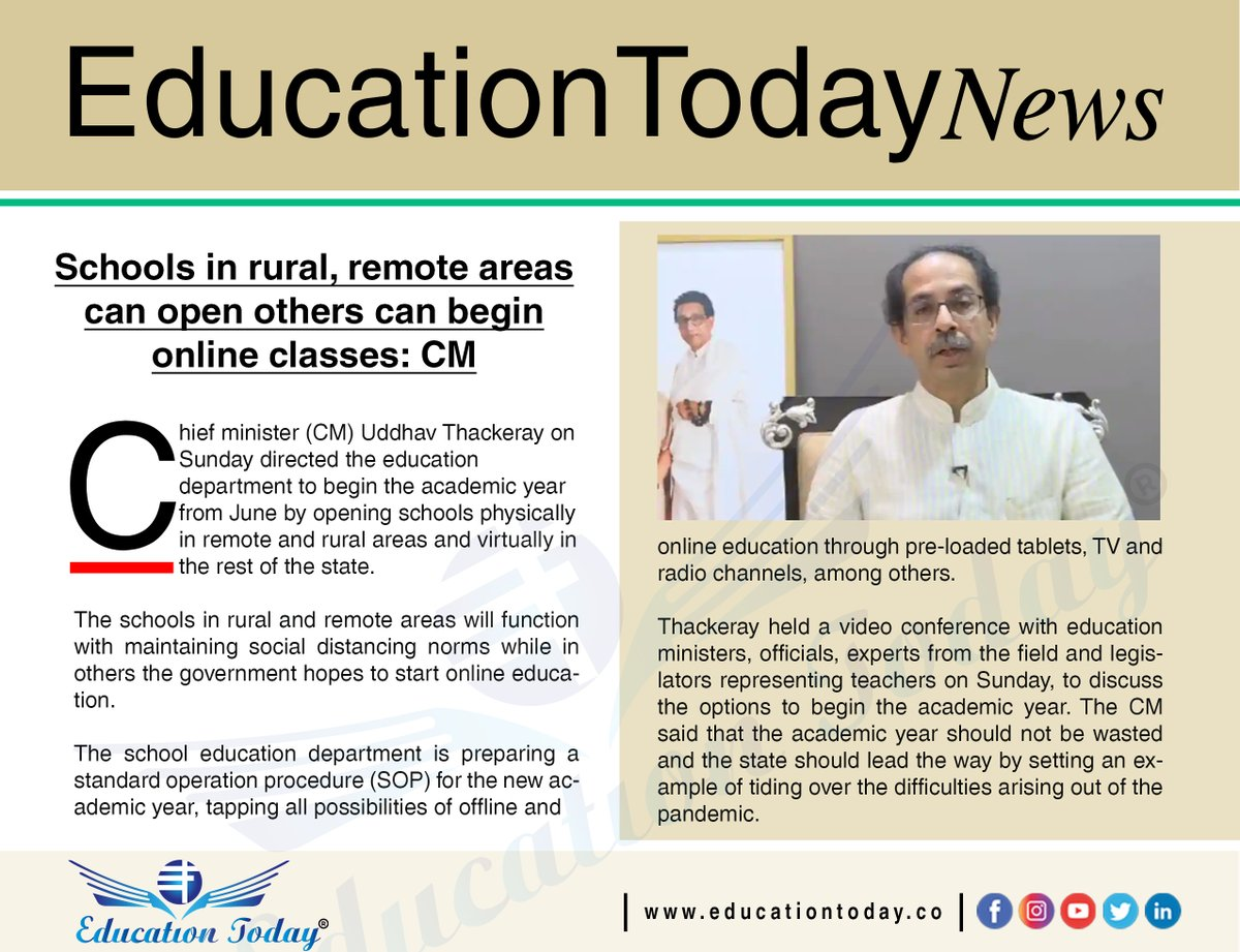 Schools in rural, remote areas can open others can begin online classes: CM.    #schools #classes #lockdown
