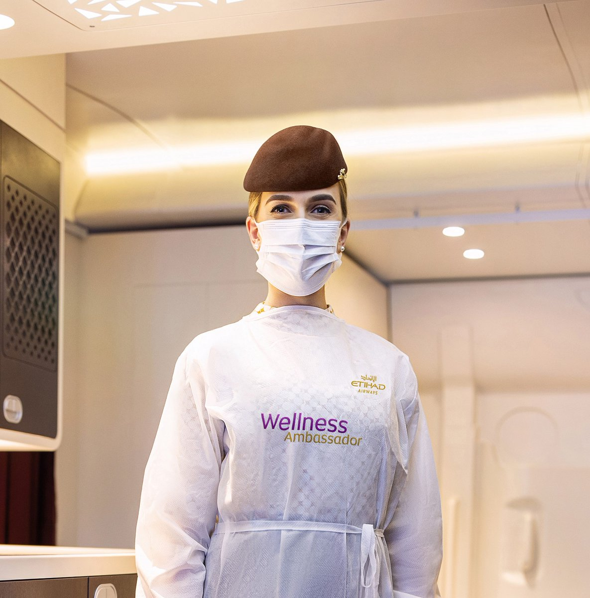 Etihad Airways has introduced wellness ambassadors who will be on board every flight and contactable 24/7 to help travellers with concerns regarding hygiene and safety when flying #aviation #Etihadpic.twitter.com/gpMlZn27GF