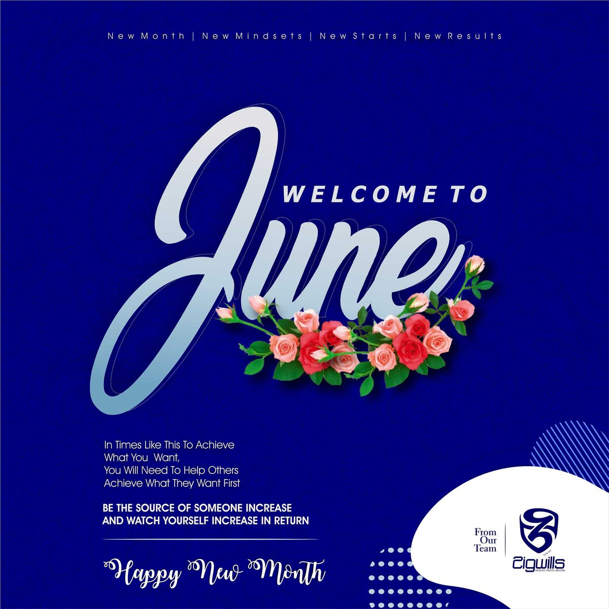 Happy new month from all of us @zigwills_media  We wish you the very best the new month has to offer and grow on very side.  Hello JUNE be awesome!!! #ananymous #happynewmonth #zigwillsmedia #graphicdesign #graphicdesigner #creativity #abujabusiness #abujaconnect #justiceforfloydpic.twitter.com/WXBWIpKfmA