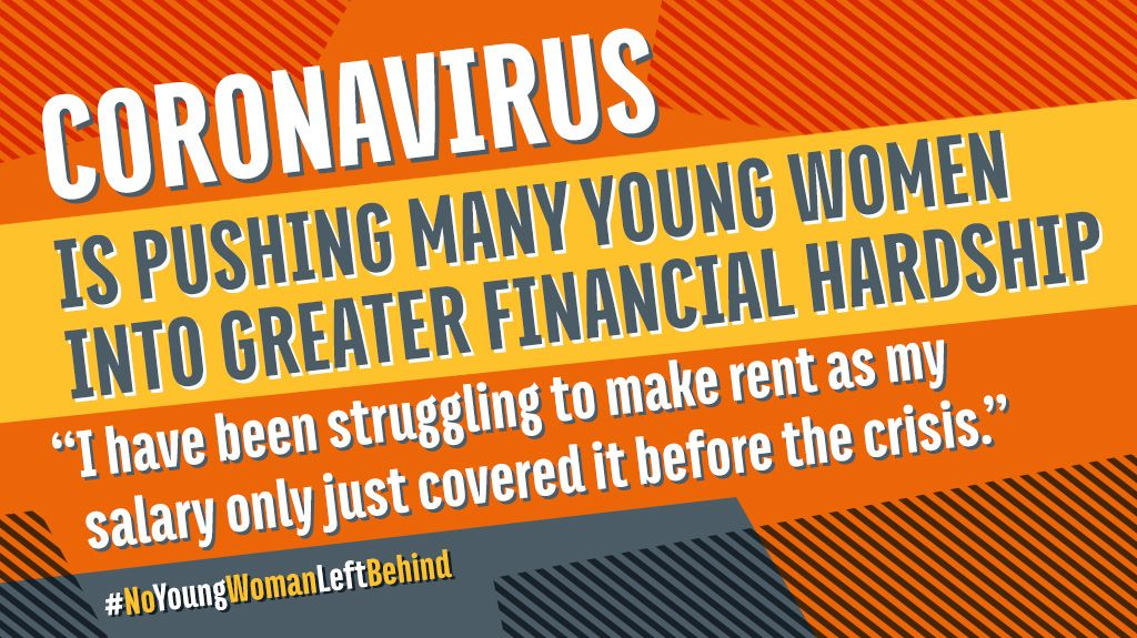 🗣️ | We spoke to almost 200 young women to hear what impact coronavirus has had on their work, finances and wellbeing. They're worried about what the future holds.   Read what they told us here. #NoYoungWomanLeftBehind >>> https://t.co/aOnTvl0Qxy https://t.co/mgki89my24
