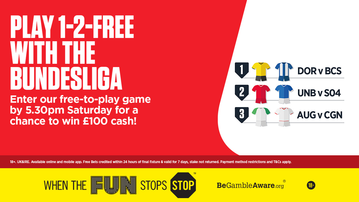 🚨 1-2-FREE 🚨 This weeks 1-2-FREE game is open! How many scores will you get right? Enter here 👇 bit.ly/3eBHWXK