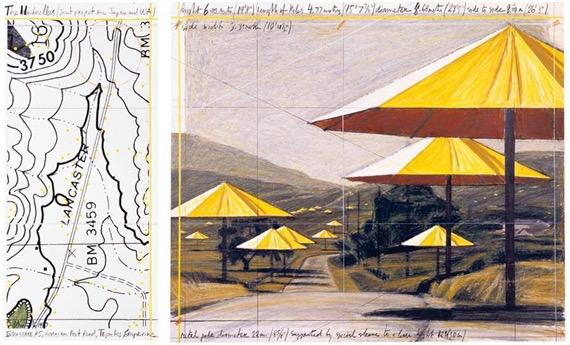 My favourite work of #Christo..the umbrellas. Rest in Peace.