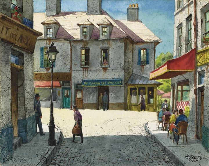 #Paris Street Scene,August, n.d. Henry Martin Gasser. pic.twitter.com/4dao5vzd2k