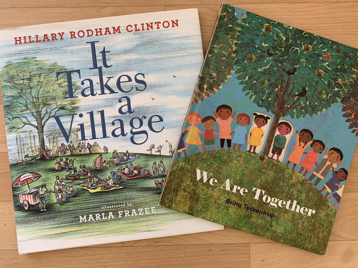 And two books that talk about how we're stronger together than we are divided are @HillaryClinton's It Takes A Village and Britta Teckentrup's We Are Together. (The latter is particularly good for younger kids, age 6 and under.)pic.twitter.com/fEJZwk3IzP