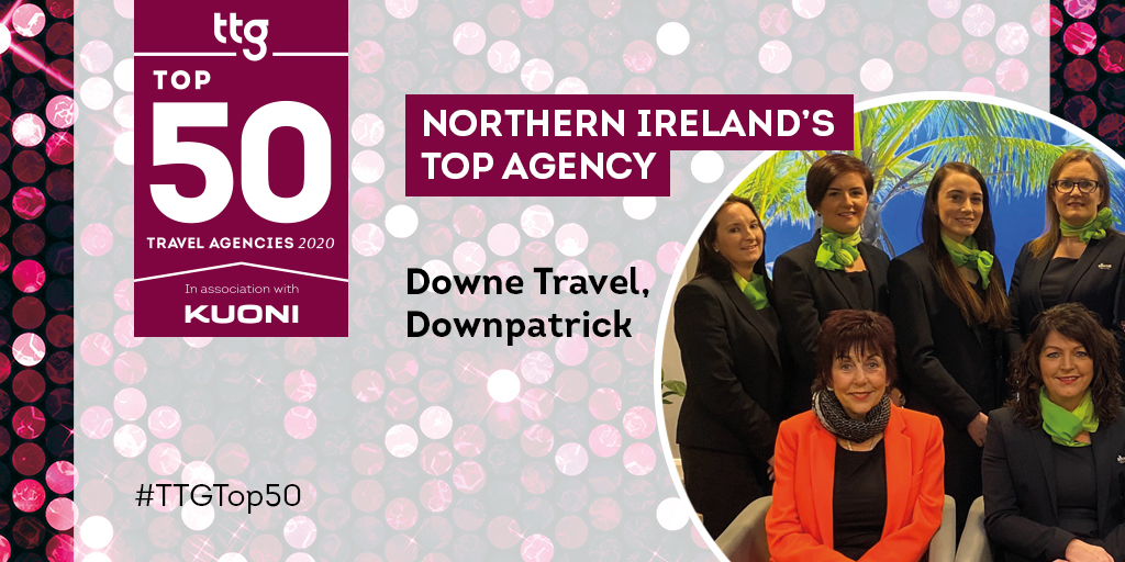Congratulations to Northern Ireland's Top Agencies:  @DowneTravel, Downpatrick @LimavadyTravel, Limavady Travel @OasisTravelNI, Lisburn  View their profiles at https://t.co/hIZzr7j4LE   #TTGTop50 #OneTravelIndustry https://t.co/WlTVK2iJxc