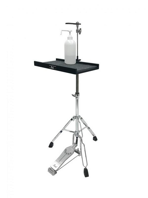 言われてみれば確かにその技術活用できるパール楽器、ドラムセットのスタンドを消毒液スタンドにアレンジして販売  @itm_nlabより