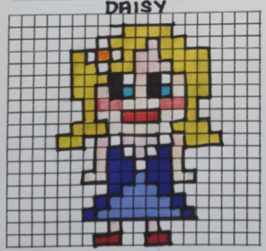 We received a beautifully designed pixel art computer game character from Erin Hopkin this week. She created 'Daisy', a character who collects flowers in the park for the local florist and spends the money on building extra features in that park for all to enjoy! Excellent! pic.twitter.com/DPg4nbh75y