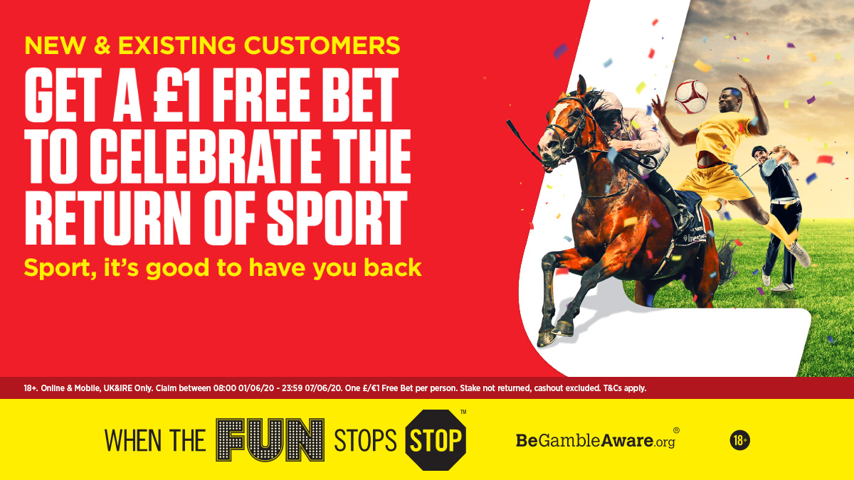 What will you use your £1 Free Bet on? 🤔 Theres a load of sporting action today, including: ⚽ Bundesliga 🏇 Kempton 🏇 Newcastle 🎯 PDC Home & Modus Icons Sport, it's good to have you back. bit.ly/3gDOG9k 18+ Terms apply.