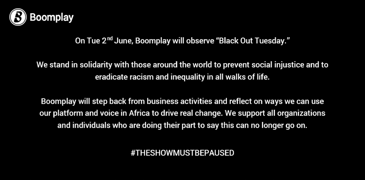 ✊🏾✊🏾✊🏾✊🏾 #TheShowMustBePaused #BlackOutTuesday
