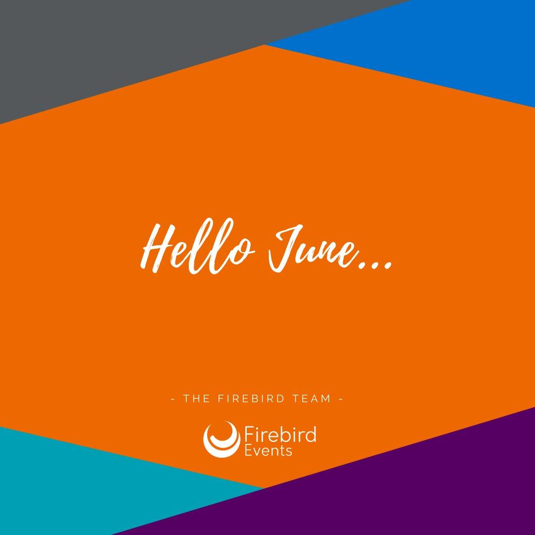 Well hello June. Bring us sunshiney positive vibes please… #goodbyemay #hellojune #summer #sunshine #positivevibes #eventplanner #eventspecialists #eventsindustry #firebirdevents