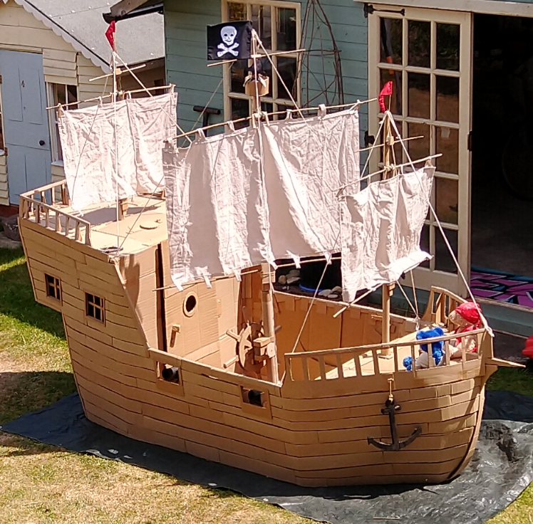 Lockdown project? The obvious thing seemed a cardboard pirate ship...