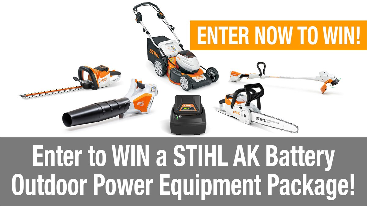 Enter to #win a @STIHLUSA 36V 5-tool kit #OPE kit with #lawnmower, #stringtrimmer, #hedgetrimmer, #chainsaw, and #blower bit.ly/ptrgiveaway Visit the link to earn extra entries! #giveaway #tools #DIY #landscaping #lawncare #lawn