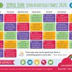 Image for the Tweet beginning: This Joyful June Calendar has