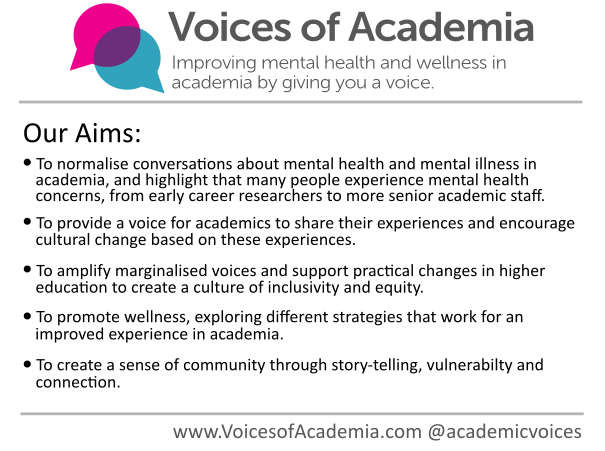 Our aims are simple: we hope to normalise conversations around mental health, break down stigma and help make a better academia for all by creating a safe space for people to share. Ultimately working towards cultural change within academia. 3/