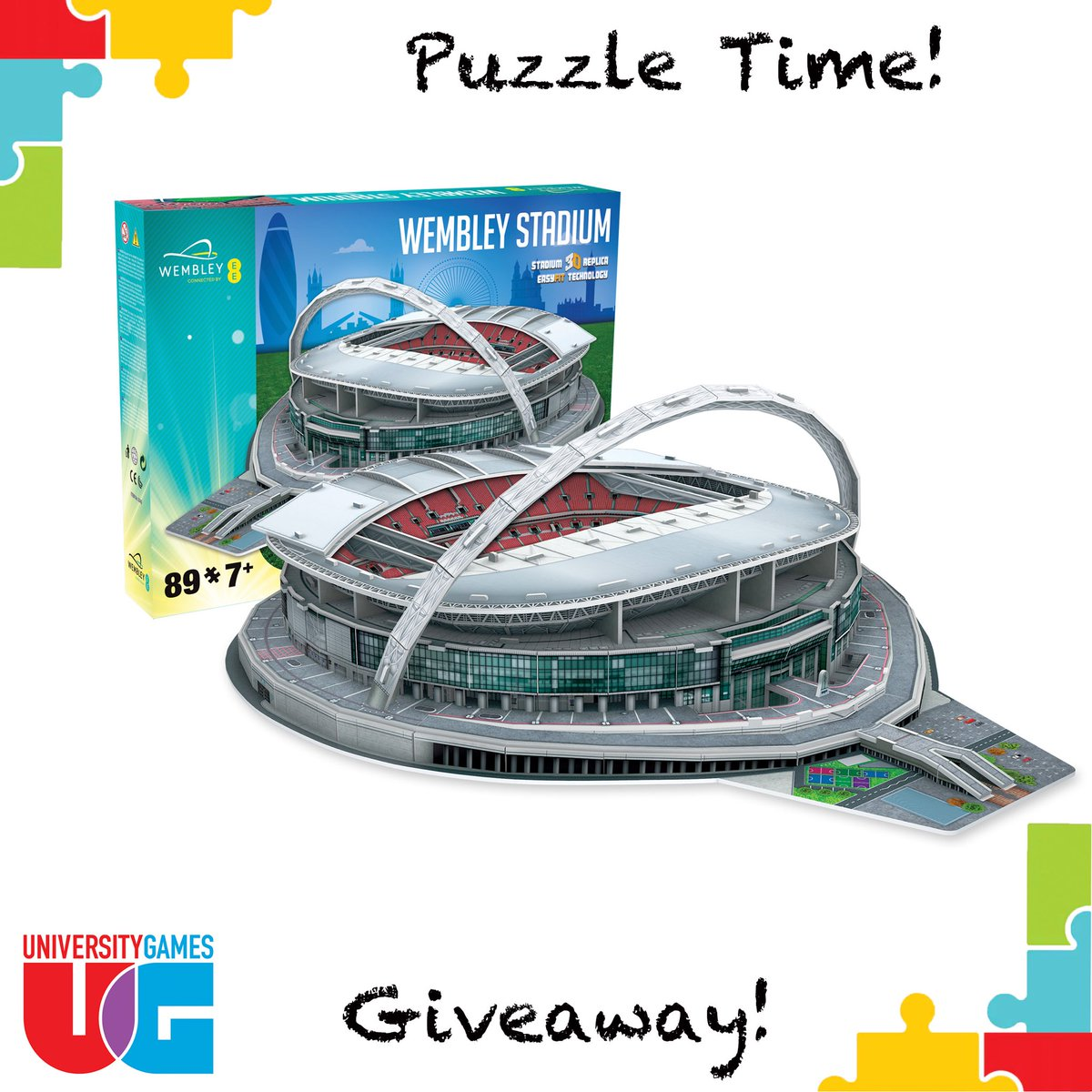 Last chance to enter our Wembley Stadium 3D Puzzle Giveaway! Perfect for football and puzzle fans and makes a great Fathers Day gift! To enter: #RT #Follow Comment #PuzzleGiveaway  Closes at 3pm on 1 June  2020. UK & ROI only. t&c's on FB and IG #giveaway #FathersDayGiftspic.twitter.com/SkhXZstrrU