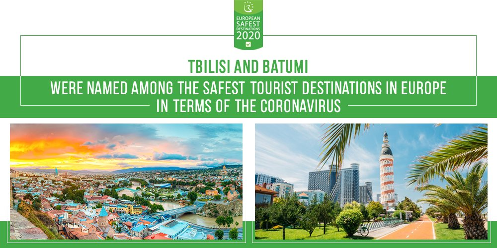 #Tbilisi and #Batumi were named the safest tourist destinations in Europe in terms of the #Covid19 in the ranking published by @ebdestinations #Georgia https://t.co/l5IhMKBjlY