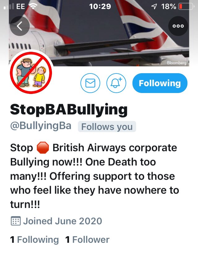 @BullyingBa In light of the loss of a dear friend and colleague. It is more apparent that the majority of us are feeling bullied by our employers treatment. It is more than likely that we have a good case to fight!!! #BAbetrayal @BullyingBa Please follow and retweet #BAtogether https://t.co/0gXsQHFoT5