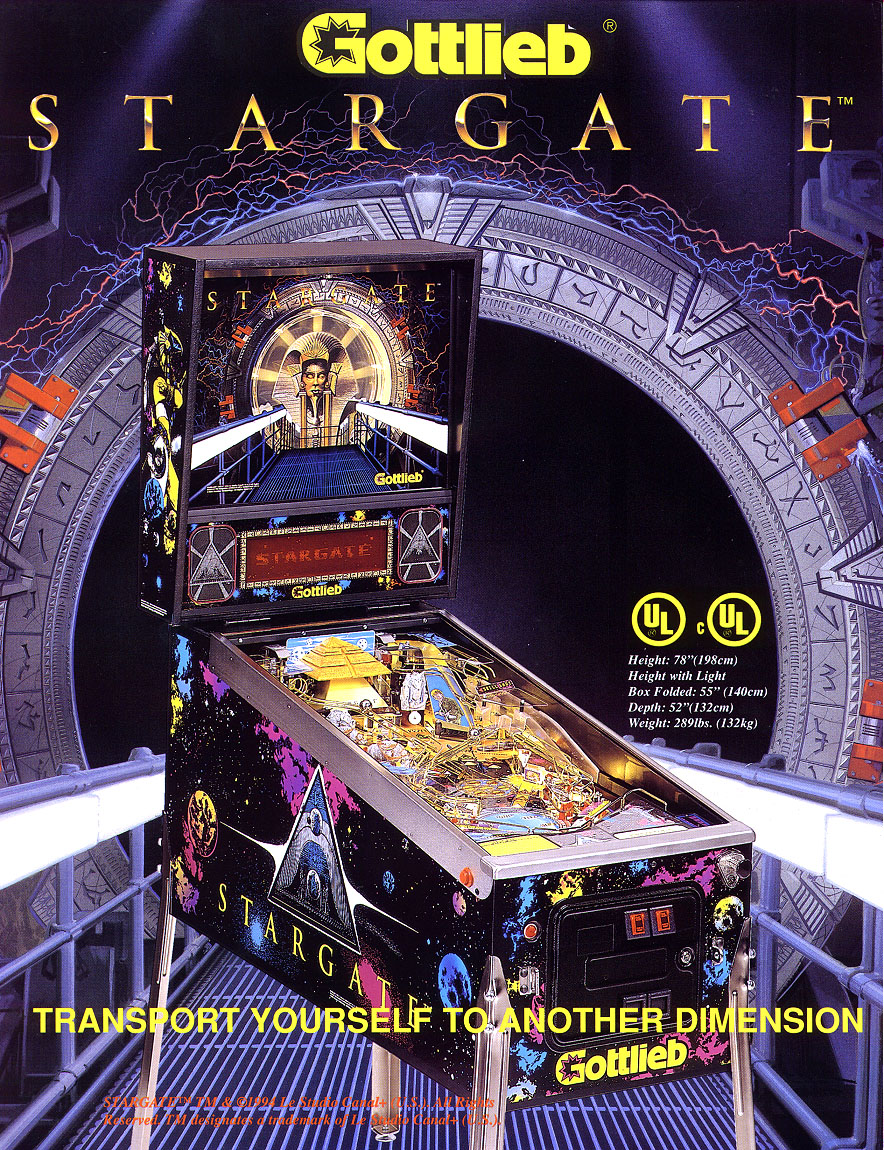 Today's #PFOTD is Stargate made by Priemer/Gottlieb in March 1995 and based on the movie of the same name starring Kurt Russell. There were 3,600 of these made. This #Pinball had an opening and closing pyramid. #Arcade #PlayMorePinball #Retrogaming #GamersUnitepic.twitter.com/HzRNWsUc8R