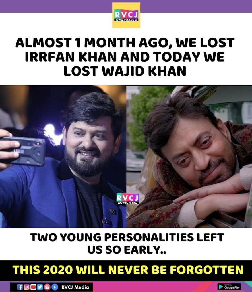 These two..   #IrrfanKhan #WajidKhan #Bollywood #rvcjmovies pic.twitter.com/PhrOBNHN9m