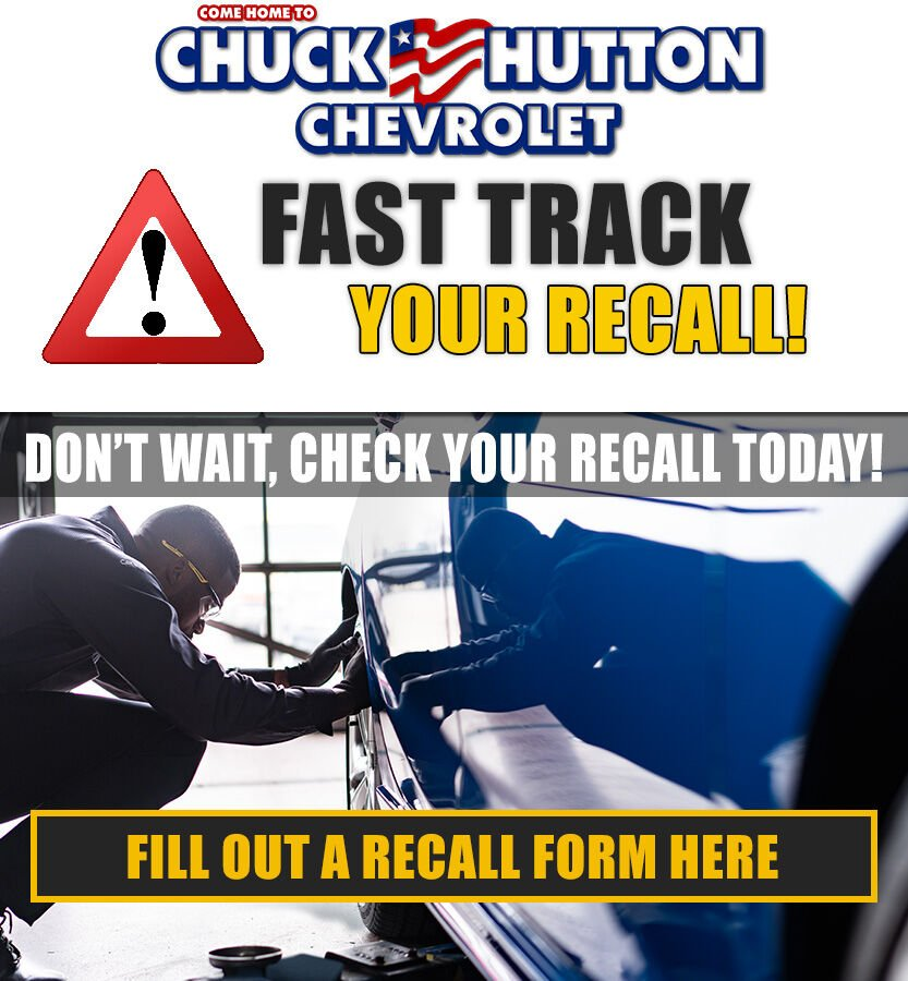 Your safety is the #1 priority! Fill out a quick form on our website to Fast Track your recall with Chuck Hutton Chevrolet today! http://bit.ly/2w9Qmo6  #ChevyCares #WeAreHereToHelp #ChuckHuttonpic.twitter.com/Z6bT1WK2hD