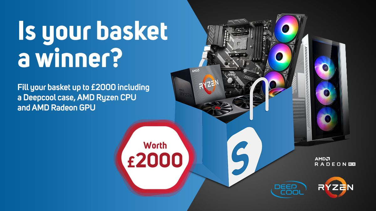 #WIN your £2000 basket PART 2!! Scan is back with another Monthly #GIVEAWAY Sponsored by @Deepcoolglobal and @AMD_UK!   Will your Basket be a #WINNER?   OPEN WORLDWIDE  For full details see here: https://bit.ly/2AtDP1f   #lovescan #giveaway #PCGaming #AMD #DeepCool pic.twitter.com/0GqYHreXf9