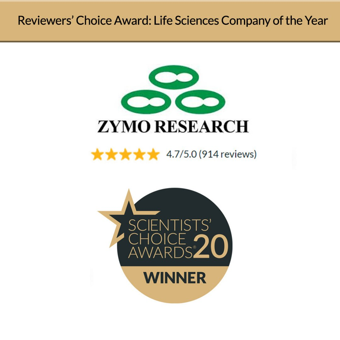 Thank you to @SelectScience for the Life Sciences Company of the Year award! We are so grateful for this recognization and for all the positive reviews from our valued customers. https://t.co/zbuB0D9pcH