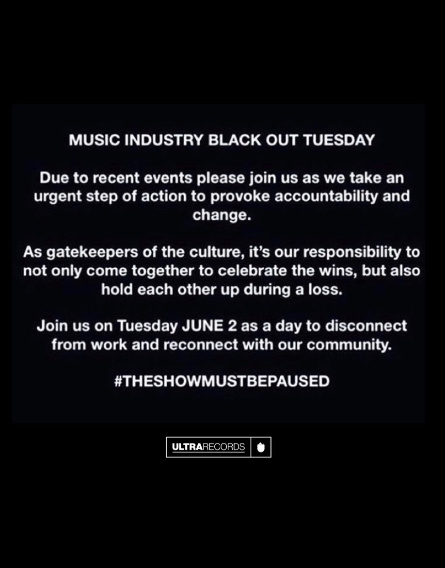 May our voices be heard today, tomorrow & everyday thereafter until change happens. Join us. #TheShowMustBePaused