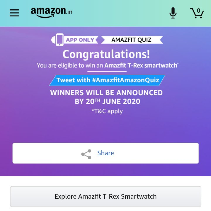 #quiztimemorningswithamazon  AMAZFIT QUIZ  ELIGIBLE to win an AMAZFIT T Rex smart watch pic.twitter.com/28yjtX6E5T
