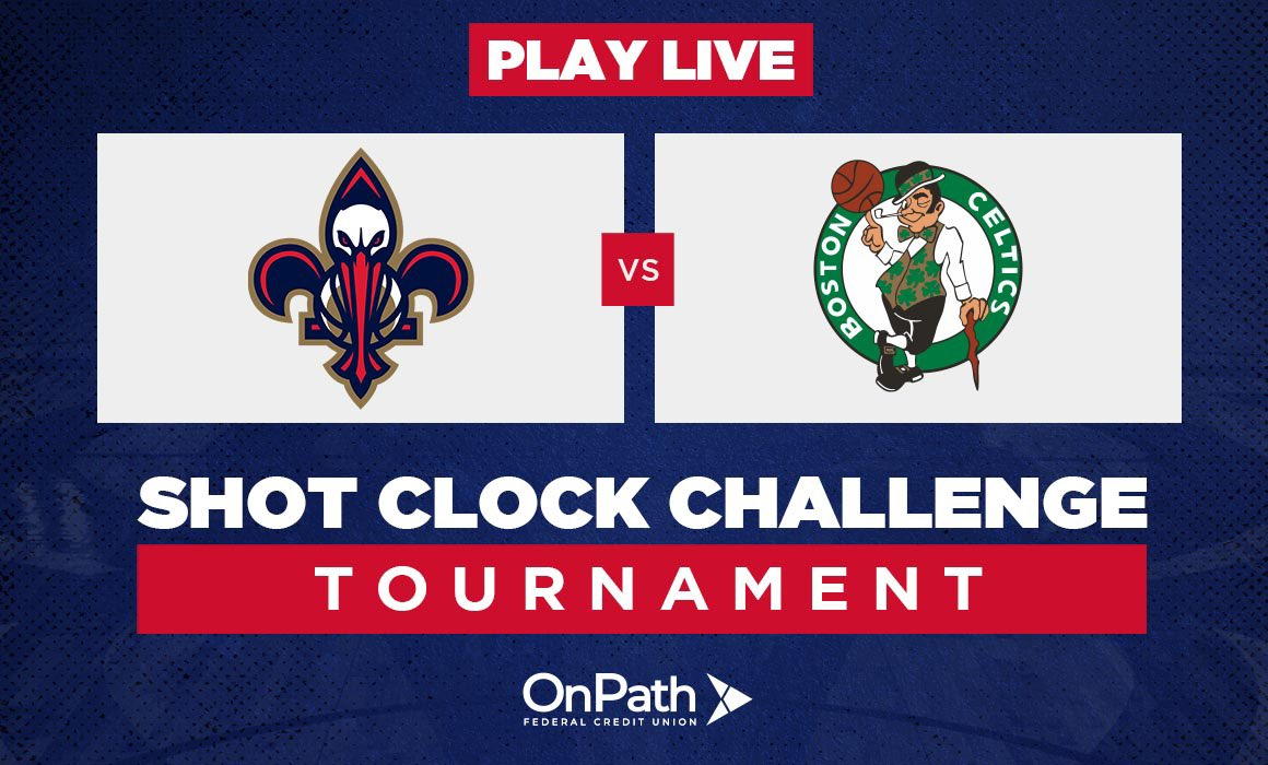 Another day, another W has us at 6-1 on top of the leaderboard and facing the Celtics' fans today! Head over to Shot Clock Challenge to boost our score! 🏀 Download our app here: neworlns.co/app #WontBowDown| @OnPathFCU