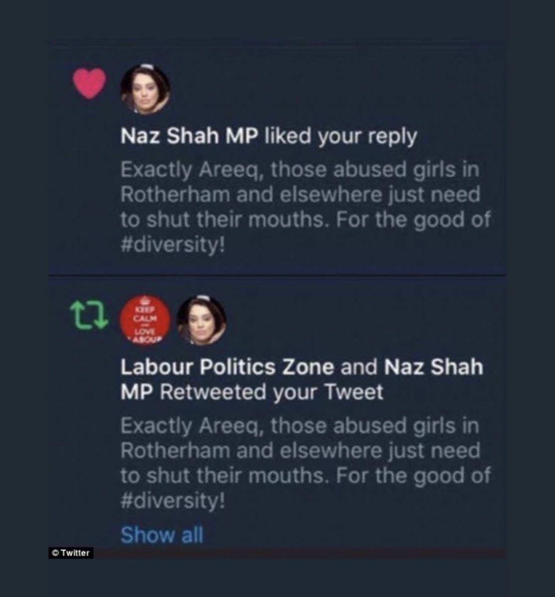 @NazShahBfd Massive hypocrite alert. Shah say silence is not an option. Does that only apply to non whites shah
