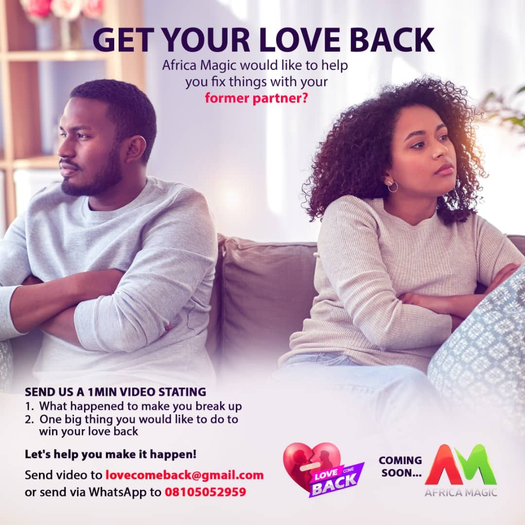 Cupid made a call & we're responding! If you're longing to mend things with a lost love & are willing to let the world in on it - send us a video using the number/email on the poster & tell us what lead to your break up & what you're willing to do for your #AMLoveComeBack!