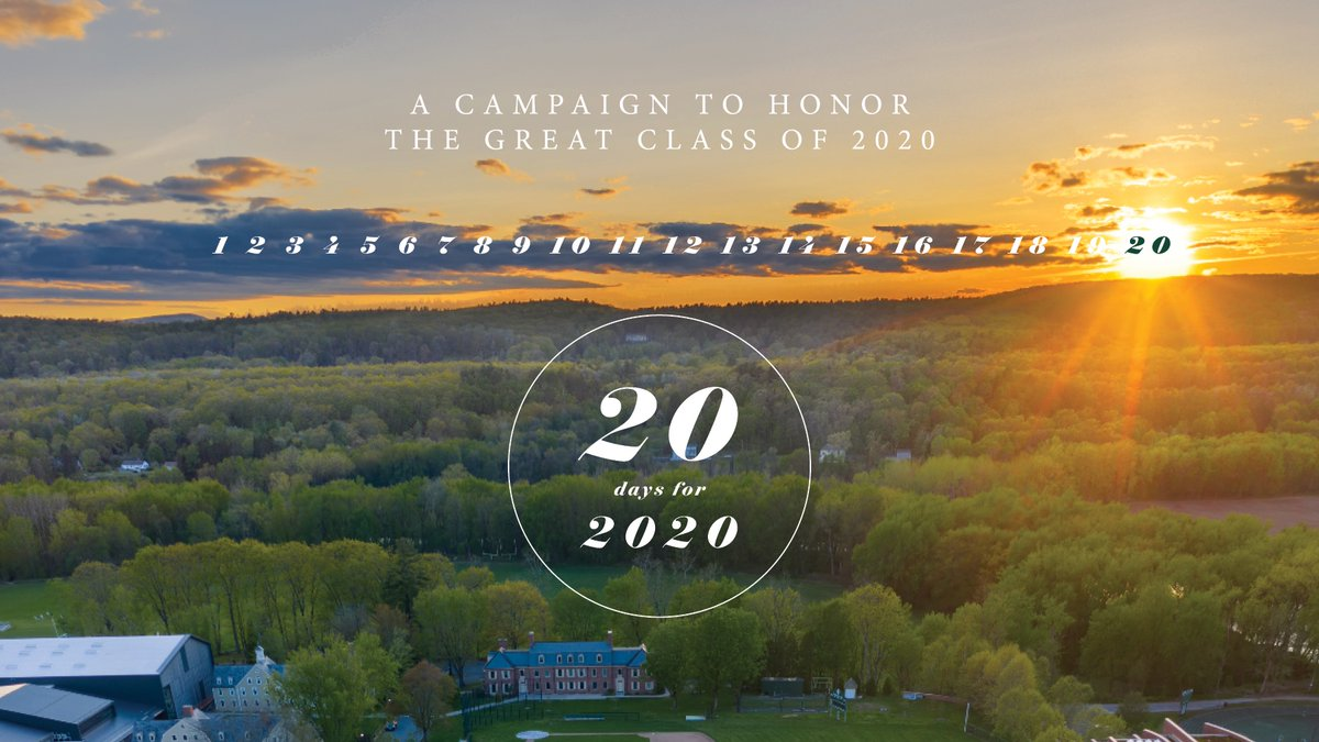 For the next 20 days, we'll be celebrating the Great Class of 2020! Please consider honoring these recent graduates with an Annual Fund gift and words of encouragement: https://t.co/WZknSmNapc Let's strengthen Deerfield as we prepare for the new academic year. Thank you! https://t.co/dXAFhr9Ljo