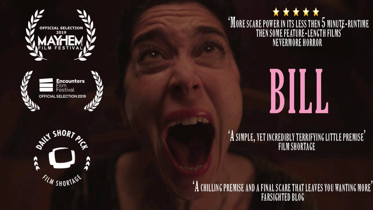 Thanks to everyone who has watched, shared or reviewed our 3 minute #Occult #horrorshortfilm BILL. We really appreciate all the support. If you havent watched it (or would like to watch it again) please do. 😱😱 Vimeo: vimeo.com/sketchbookpict… Youtube: youtu.be/IOeOkPgmb2A