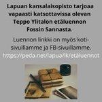 Image for the Tweet beginning: Tarjoamme Teppo Ylitalon etäluennon vapaasti