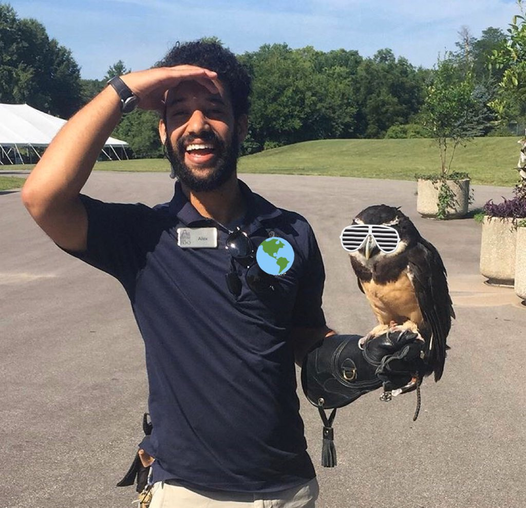Today is Day 2 of #BlackBirdersWeek where y'all #PostABird to the TL to spread some avian love! Since my skills birding skills are introductory here is a picture of me and Rowl. We were born on the same day three hours away from each other. This year we both turned 31