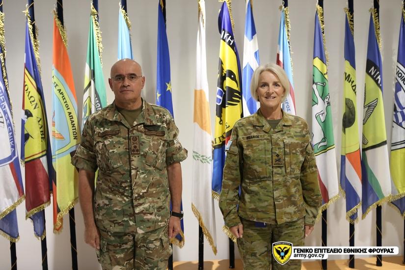 Η Διοικήτρια της UNFICYP, Στρατηγός Cheryl Pearce πραγματοποίησε την 01 Ιουνίου 2020, επίσκεψη στο Γενικό Επιτελείο Εθνικής Φρουράς και συναντήθηκε με τον Αρχηγό της Ε.Φ. Αντιστράτηγο Δημόκριτο Ζερβάκη. army.gov.cy/el/events/deta…