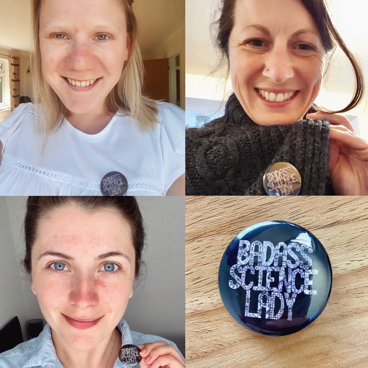 The current PhD 'Badass Science Ladies' of the Steed Group 👩🏻🔬 Badges available here: etsy.me/3dll5iQ